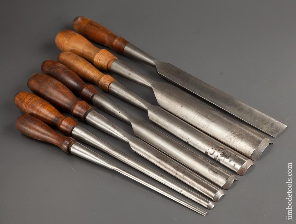 Awesome Set of Seven BUCK BROS Socket Gouges - 75979