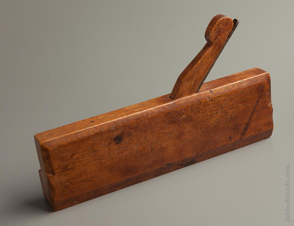 "Early WETHERELL ""IN NORTON"" Ten inch Yellow Birch 1 1/4 inch Hollow Molding Plane circa 1750-76 EXTRA FINE - 76087U"
