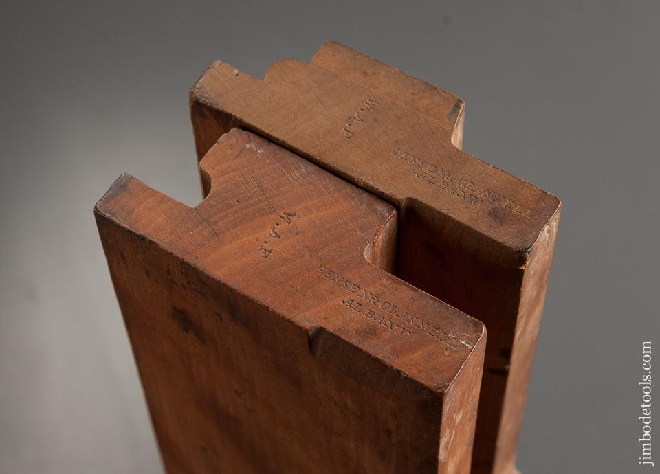 RARE 1/2 inch Fenced Drop Leaf Table Joint Planes by BENSEN & CRANNELL ALBANY NY circa 1843-62 FINE - 76092