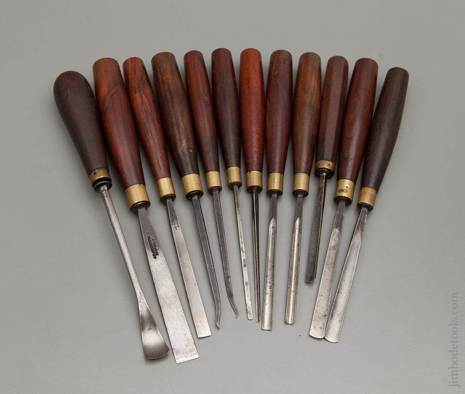 Awesome Set of ADDIS Rosewood Handled Carving Tools - 76376
