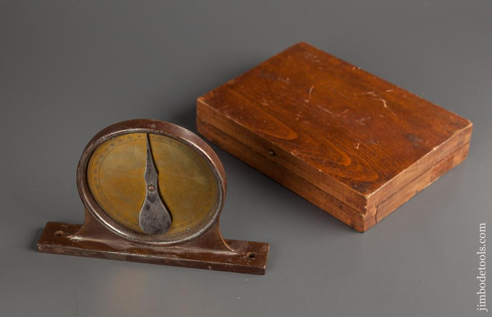 Six inch Dial Inclinometer in Wooden Case - 76446