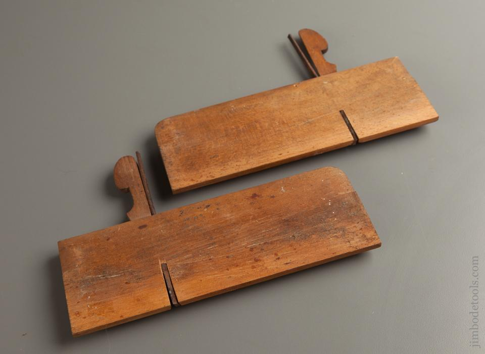 Crisp and Extra-Fine Pair of Side Rabbet Planes by B.F. BERRY WATERTOWN, N.Y. circa 1840 - 76490R