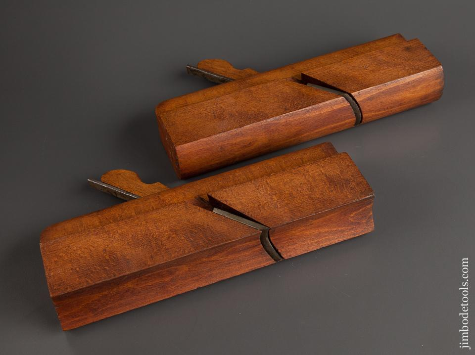Pair of GREENFIELD TOOL CO No. 21 Hollow & Round Molding Planes circa 1851-83 EXTRA FINE - 76747