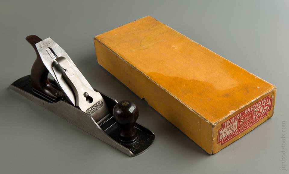 Superb STANLEY No. 605 BEDROCK Jack Plane with Decal MINT in Original Box - 76838R