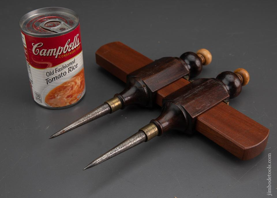 Stunning Rosewood & Boxwood Trammel Points - EXCALIBUR 76