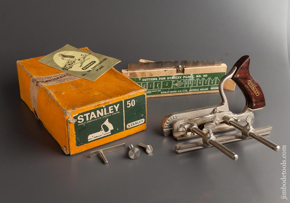 STANLEY No. 50 Light Combination Plane 100% COMPLETE in Original Box - 77062