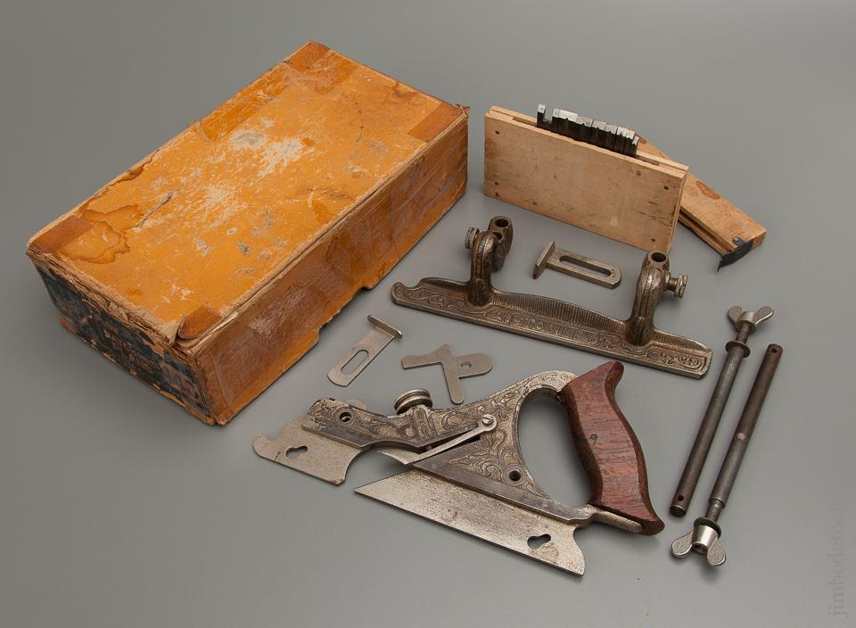 100% COMPLETE and Fine! STANLEY No. 143 Bull Nose Plow and Matching Plane in Original Box circa 1910-20 - 77065R