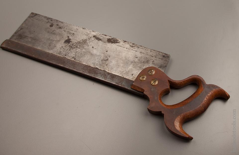 Just Sharpened! 14 point 12 inch Crosscut DISSTON Back Saw circa 1896-1917  - 77104R