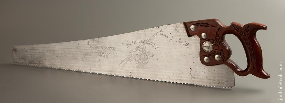 Amazing WINCHESTER 8 point 26 inch  No. 40 Old Trusty Hand Saw - 77410R