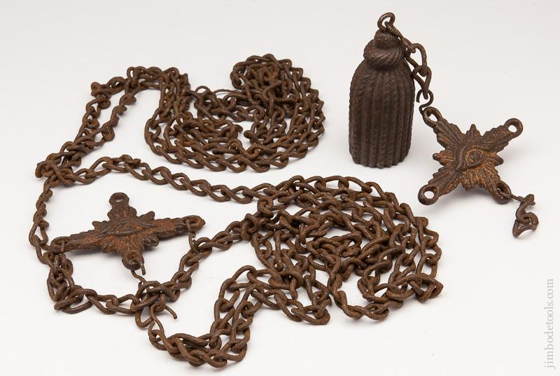 Stunning! 18th Century Dead Man's Bell with Original Chain - 77662R