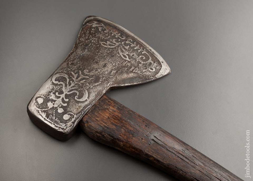 Fancy Etched/Embossed 28 x 7 x 5 1/4 inch PLUMB Axe - 77678
