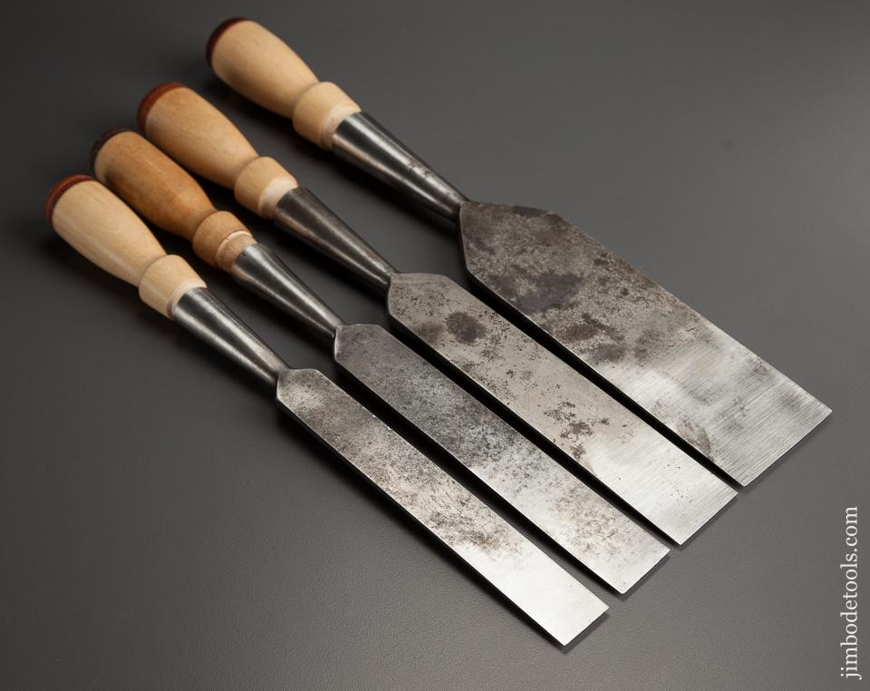 Nice Set of Four JAMES SWAN Socket Firmer Chisels - 77705