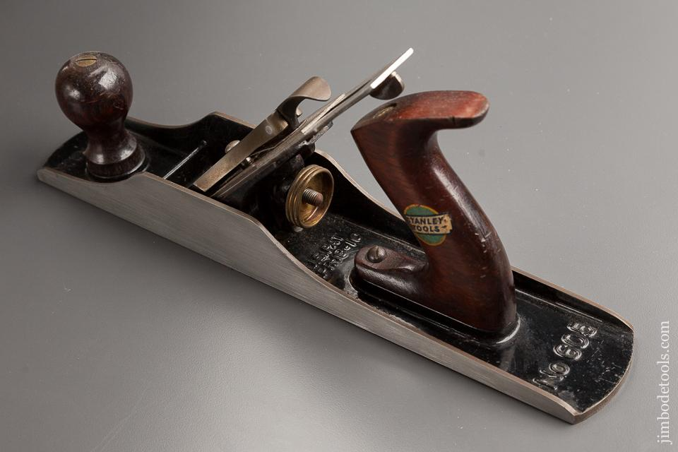 Extra Fine! STANLEY No. 605 BEDROCK Jack Plane with Decal circa 1920s in Original Box SWEETHEART - 77880R