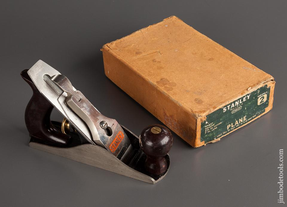 Beautiful STANLEY No. 2 Smooth Plane Type 2 circa 1932 in Original Box - 78043R