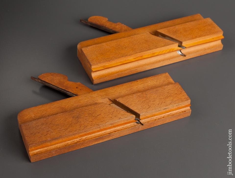 1/4 inch and 5/8 inch J. LOVELL CUMMINGTON MASS Side Bead Molding Planes circa 1860-80 DEAD MINT - 78139U
