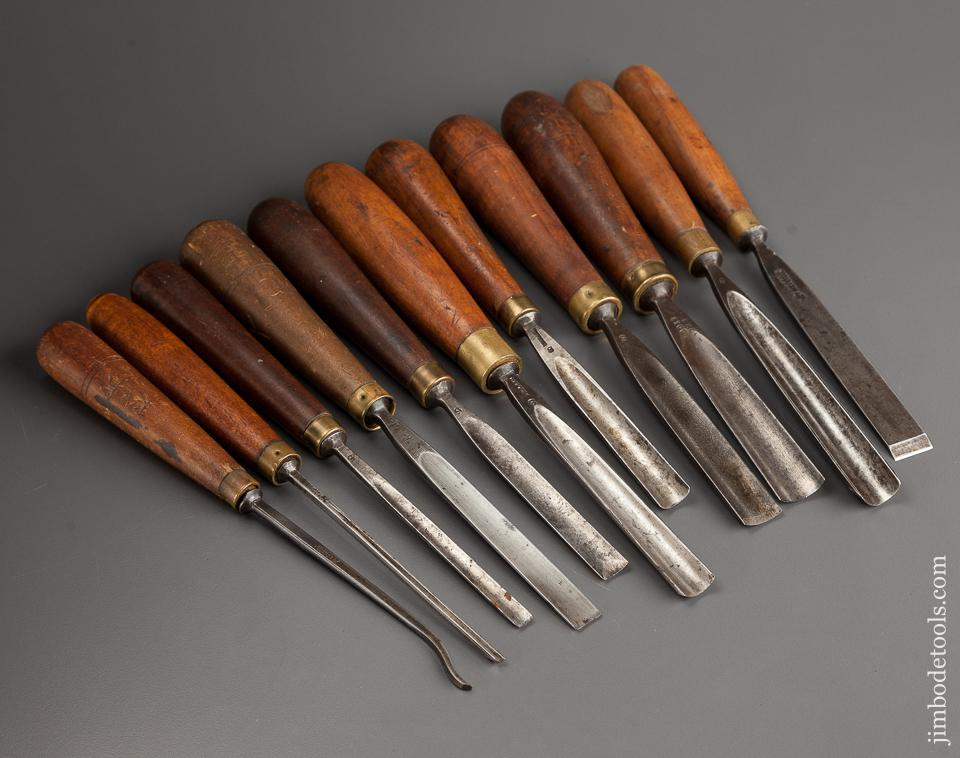 Set of Eleven ADDIS Carving Chisels and Gouges - 78163