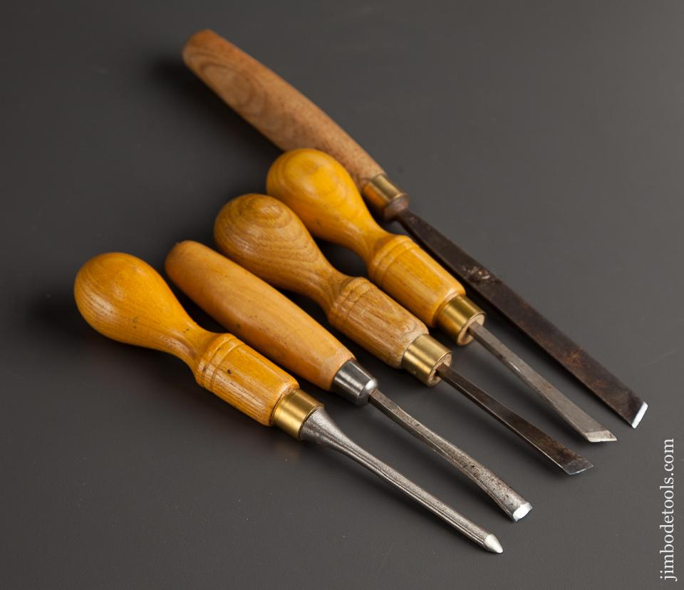 Five MARPLES Carving Chisels - 78293
