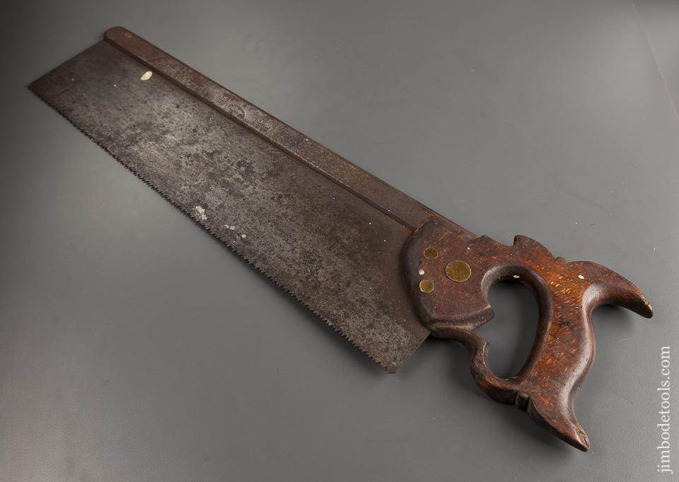 Very Early Possibly 18th Century! GROVES 18inch Back Saw - 78399
