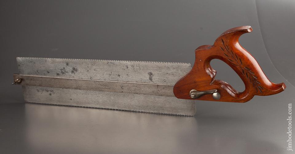 Rare! DISSTON No. 14 Tenon/Dovetail Saw with Depth Gauge JUST SHARPENED - 78423