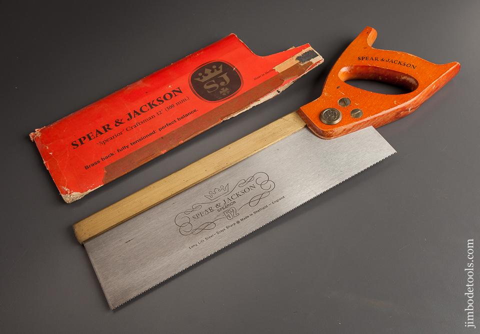 New! SPEAR & JACKSON 'Spearior' Craftsman 15 point 12 inch Brass Back Saw MINT in its Original Wrapper - 78536R