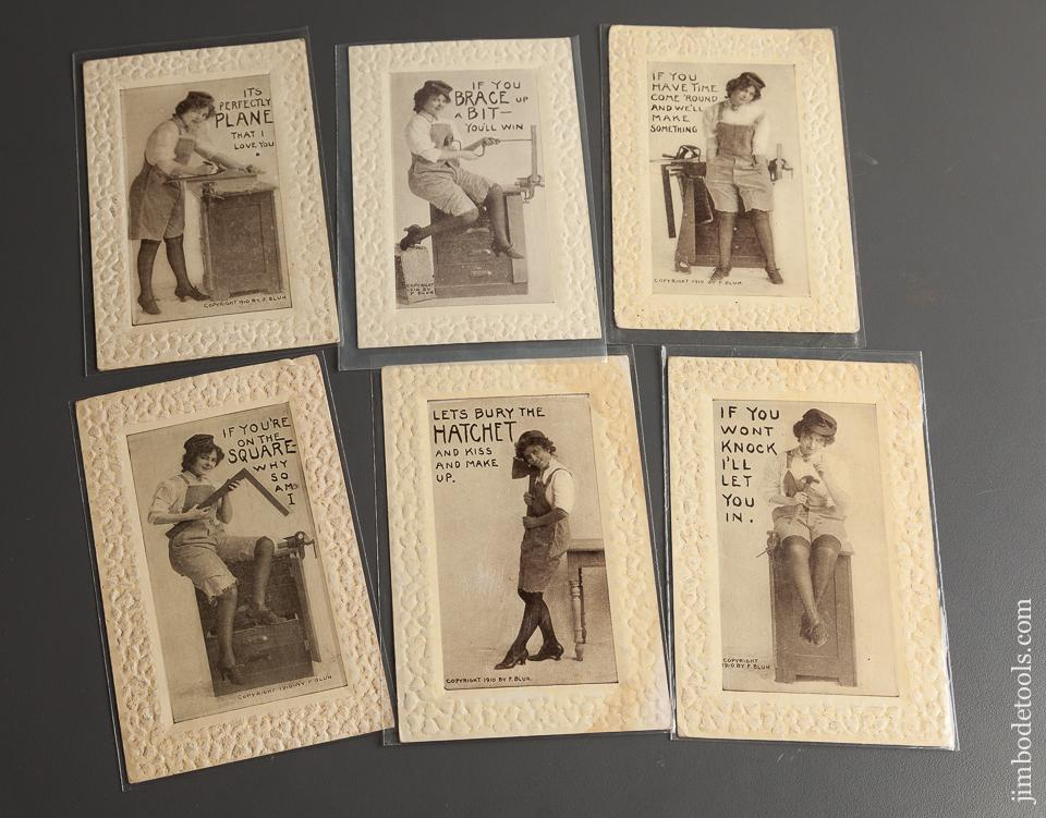 Six Fun Tool Postcards circa 1910 - 78543R