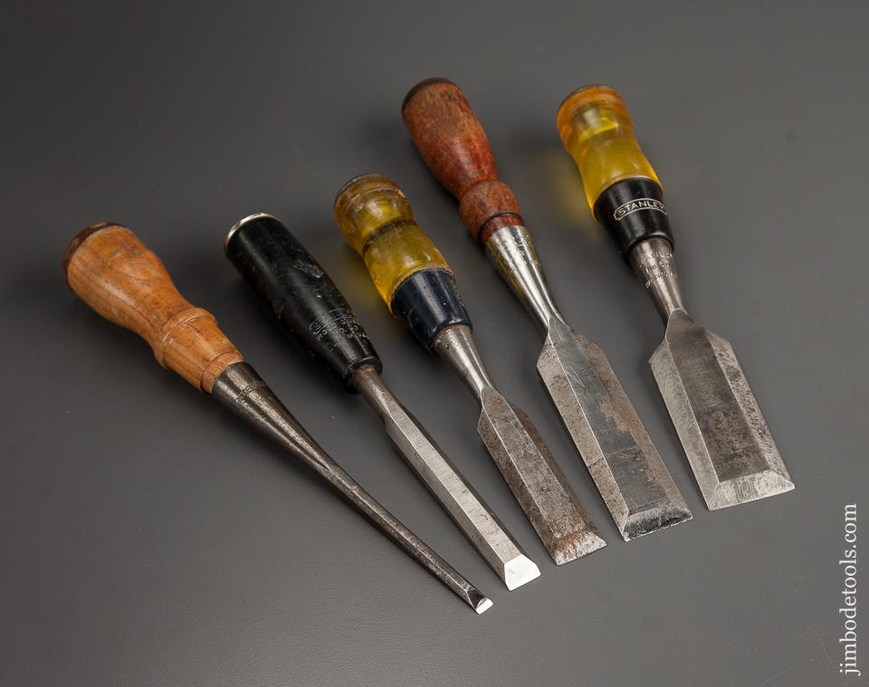 Five STANLEY Chisels - 78690