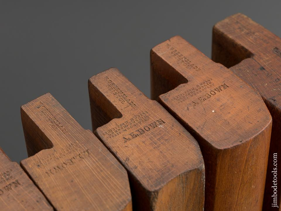 Great User Set! Of 15 GREENSLADE BRISTOL circa 1828-1937 Hollows & Rounds Moulding Planes SKEWED - 78769