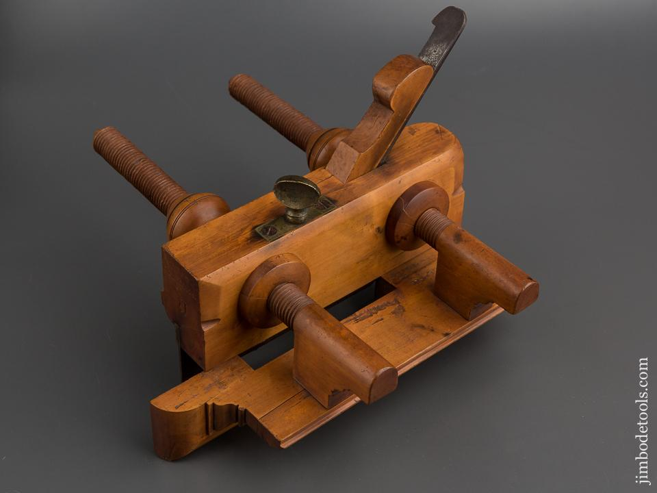 J. CREAGH CINI OHIO Boxwood Plow Plough Plane with Super Fine Threads circa 1829-42 -78789