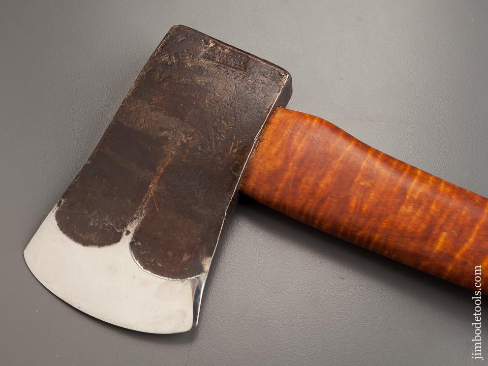 Drop Dead Gorgeous! 1 1/2 pound Boy's Axe Patented by AMERICAN AXE & TOOL with Leather Sheath - 78829