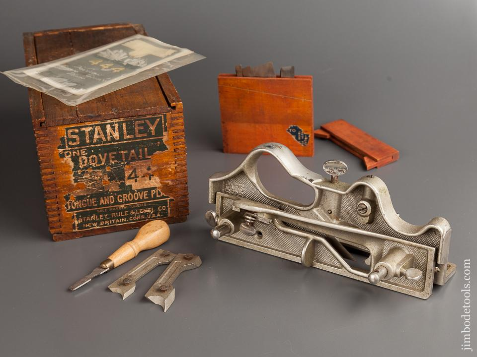 STANLEY No. 444 Dovetail Tongue & Groove Plane NEAR MINT and 100% COMPLETE in Original Box - 78839