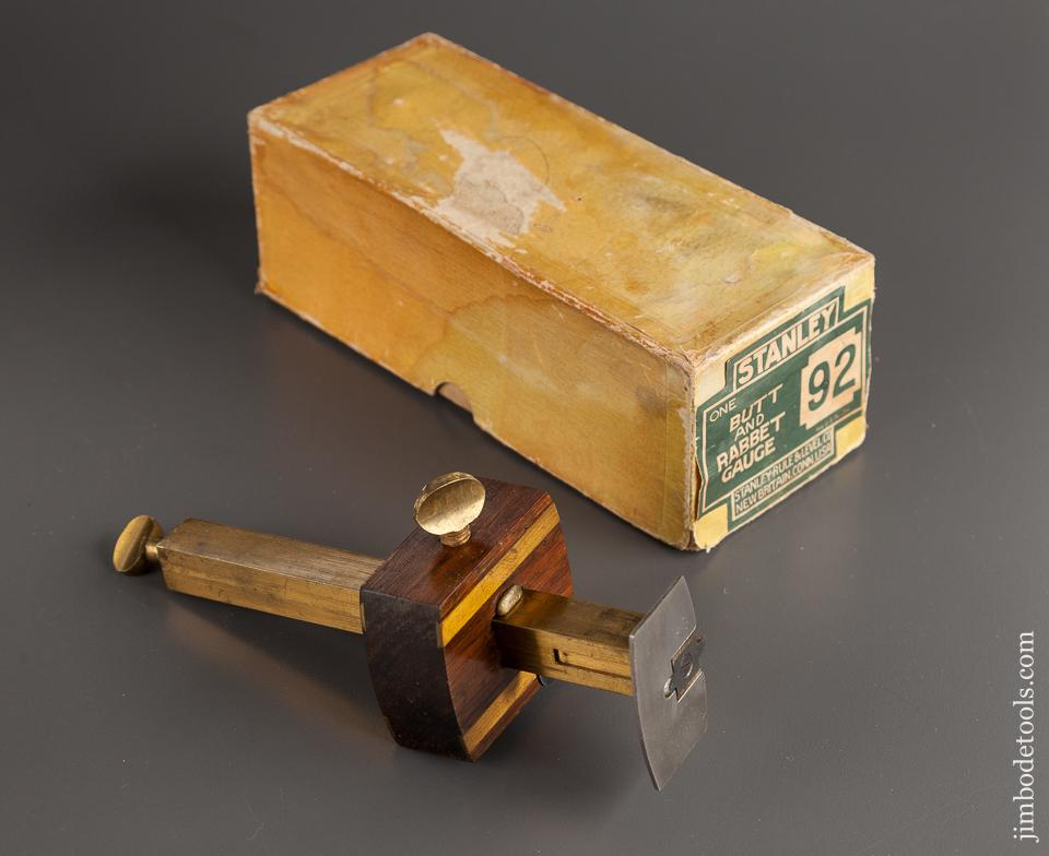 STANLEY No. 92 Butt and Rabbet Gauge in Original RARE Box - 78870