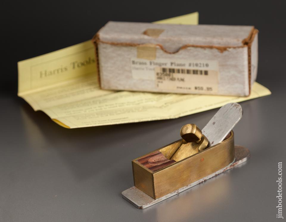 1 1/8 x 4 7/8 inch HARRIS No. 10210 Brass Finger Plane in Original Box - 78887