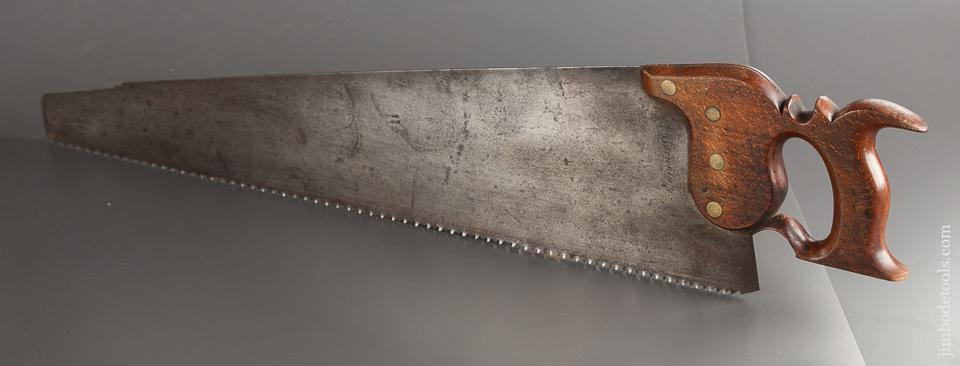 Lovely 5 1/2 point 27 inch Rip Hand Saw by TUCKER London circa 1836-40 - 78911R