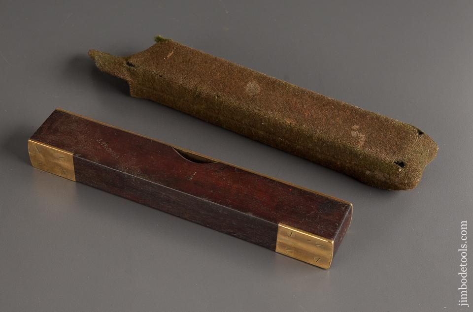 Eight inch Mahogany and Brass Level in Woolen Sheath - 78913R