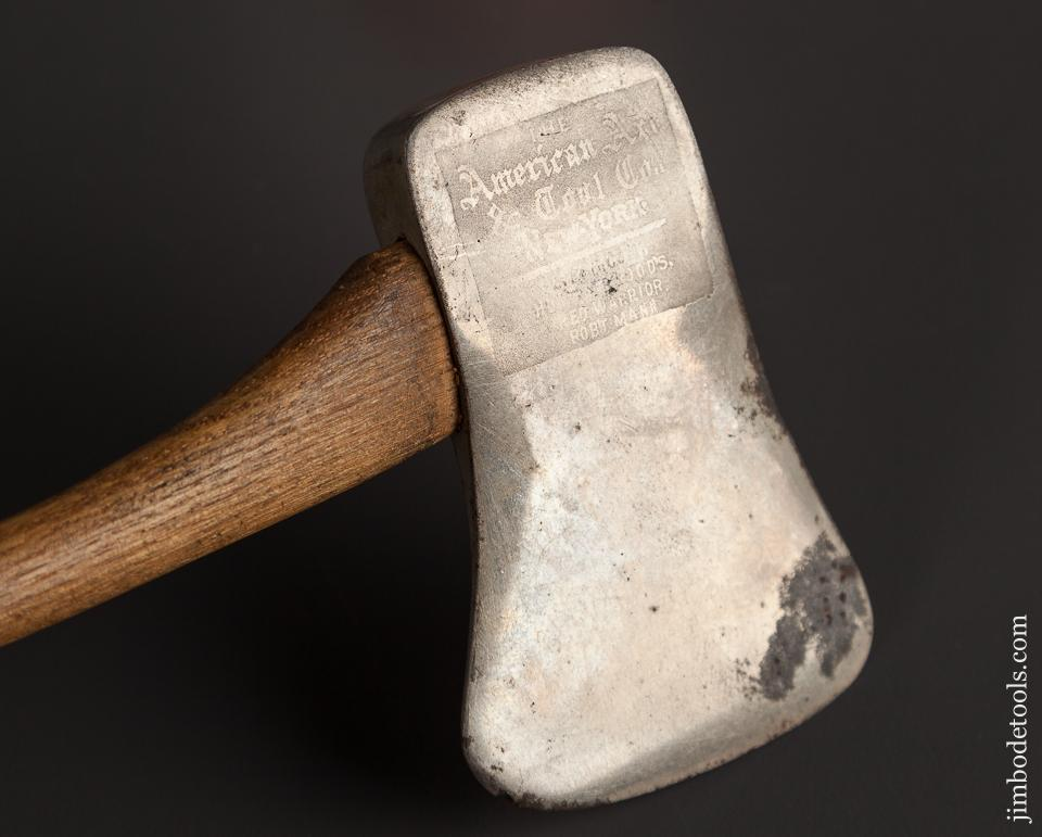 Mint! Etched Salesman's Axe Sample by AMERICAN AXE CO. NEW YORK - 78931R