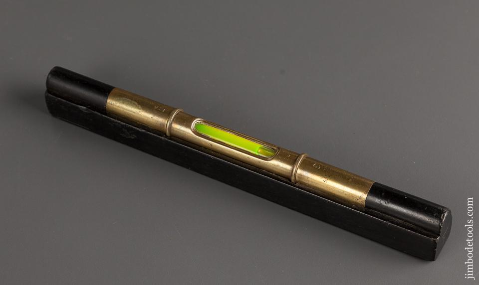 Fantastic! 9 inch MATHIESON NO. 18A Ebony and Brass Eclipse Level - 78932R