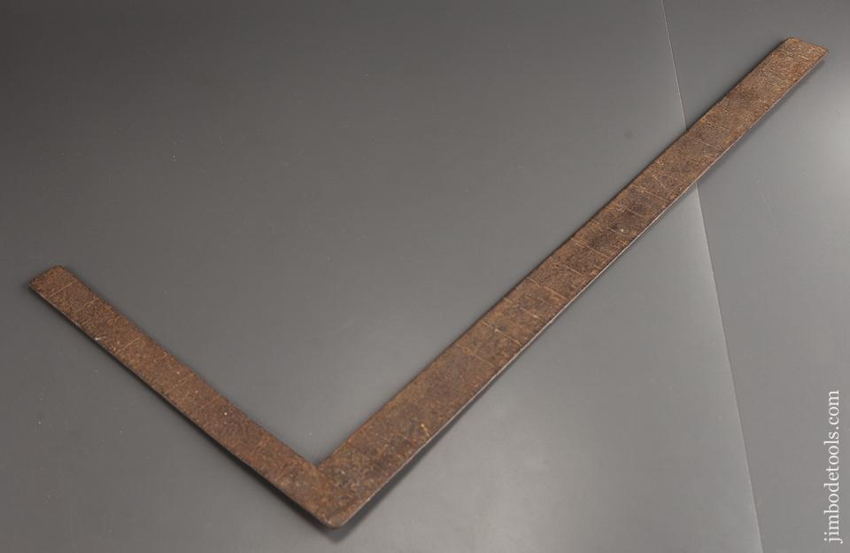 Early Hand Stamped Steel Framing Square - 78944RX