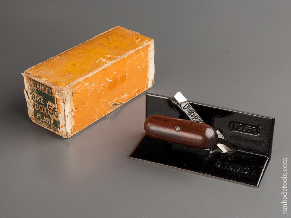 STANLEY No. 56 Core Box Plane MINT! in RARE Original Box circa 1909-23 - 78952R