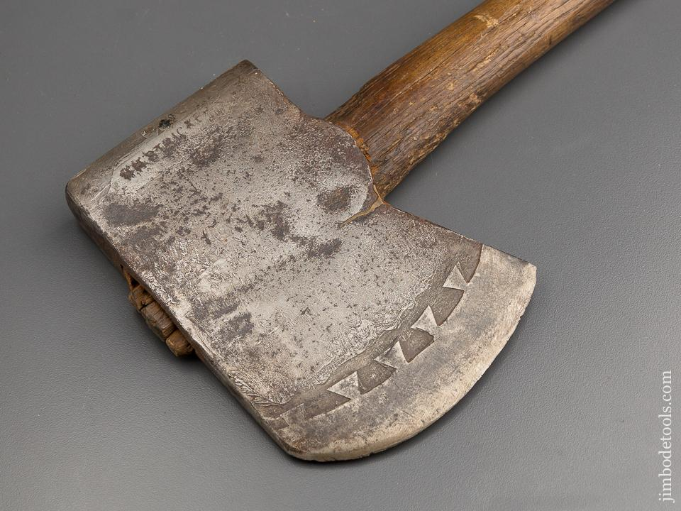 Jaw Dropping! Etched H. H. STRICKER Presentation Axe * 78970U