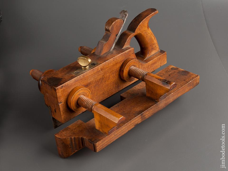 Good User H.L. JAMES No. 128 Beech Plow Plough Plane circa 1855-70 Williamsburg, MA - 79008