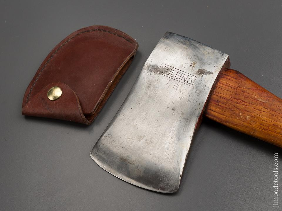Great 1 1/2 pound COLLINS Boy's Axe with Leather Sheath - 79019