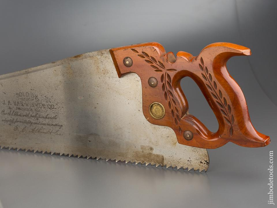 LIKE NEW! 4 1/2 point 24 inch Rip ATKINS PERFECTION No. 53 Hand Saw - 79076