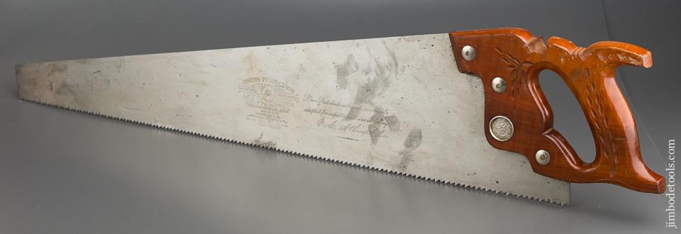 5 1/2 point 26 inch Rip ATKINS PERFECTION No. 65 Hand Saw LIKE NEW - 79077