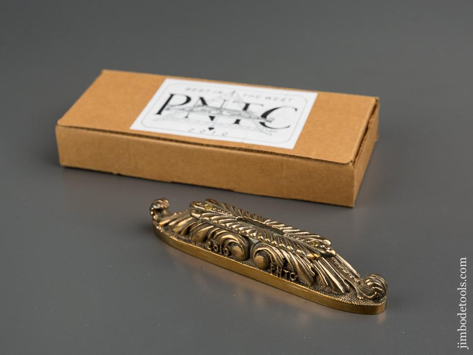 2010 PNTC Best in the West Favor - Brass 4 3/4 inch Level MINT in its Original Box - 79243R