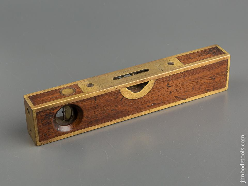 Eight inch STRATTON Patent July 16, 1872 Early Rosewood and Brass Level - 79461