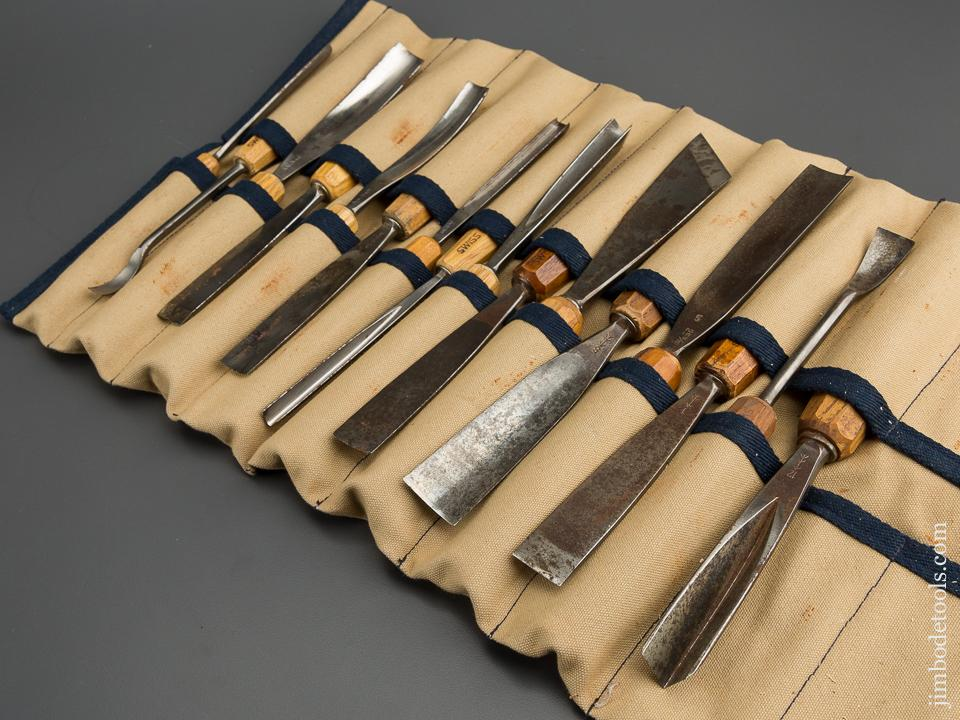 Set of 16 PFEIL SWISS MADE Carving Chisels with Roll - 79508