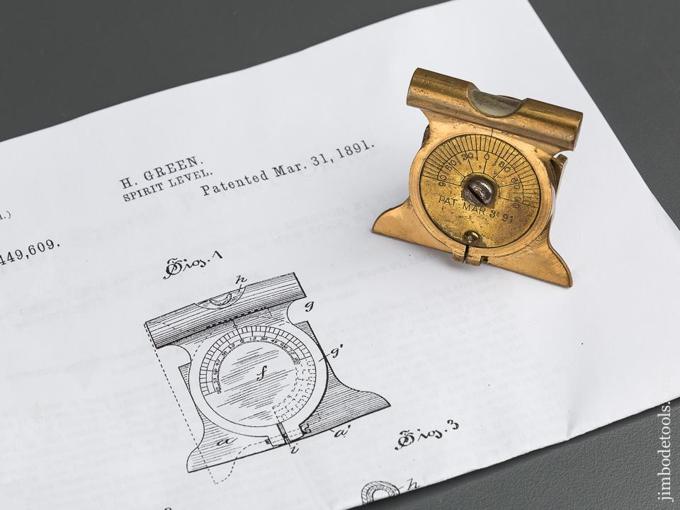 GREEN Patent March 31, 1891 TOWER & LYON Inclinometer - 79519