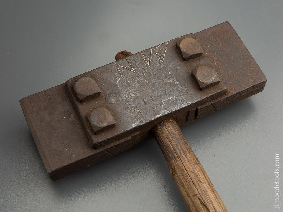 NUTTING Patent October 8, 1899 NUTTING & HAYDEN Bush Hammer for Stone Work - 79541