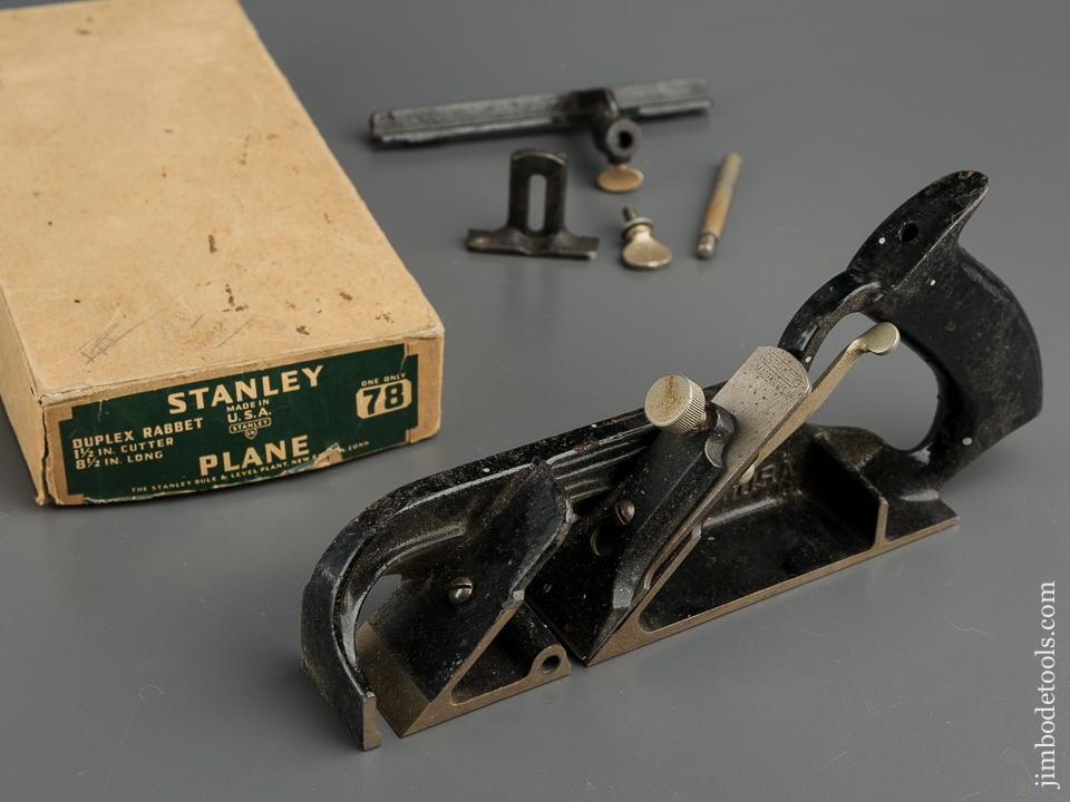 STANLEY No. 78 Duplex, Rabbet, and Filletster in Original Box - 79548