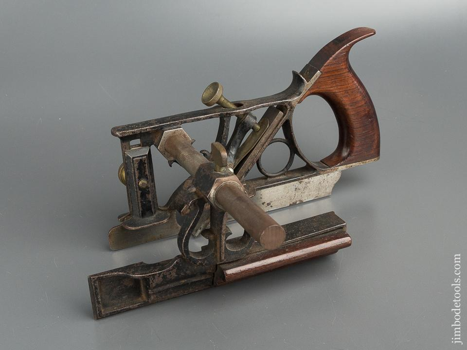 Fine PHILLIPS Patent August 13, 1867 Plow Plough Plane with One Cutter and Both Stops - 79595
